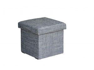 Taburet GABI šedý s úložným prostorem