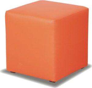 Tempo Kondela Taburet KUBIK - oranžový + kupón KONDELA10 na okamžitou slevu 3% (kupón uplatníte v košíku) - Lavice na SEDI.cz