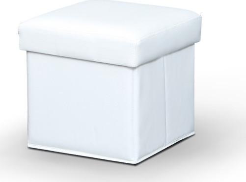 Tempo Kondela Taburet WIKI - bílá + kupón KONDELA10 na okamžitou slevu 3% (kupón uplatníte v košíku) s úložným prostorem - Lavice na SEDI.cz