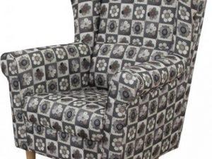 Křeslo ušák Charlot - patchwork N1