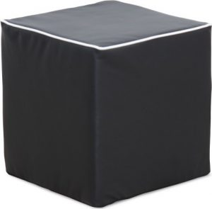 Tempo Kondela Taburet COBE - ekokůže černá + kupón KONDELA10 na okamžitou slevu 3% (kupón uplatníte v košíku) - Lavice na SEDI.cz