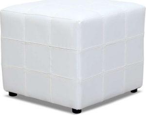 Tempo Kondela Taburet NELA bílý + kupón KONDELA10 na okamžitou slevu 3% (kupón uplatníte v košíku) - Lavice na SEDI.cz