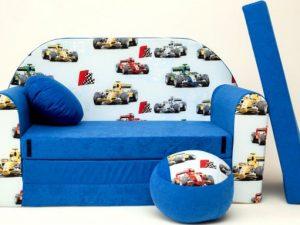 Dětská pohovka Formule modrá 1525