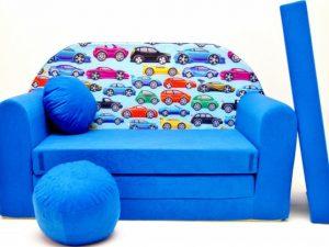 Dětská pohovka Autíčka Modrá