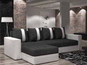 Univerzální sedací souprava TOBIAS bílá / tmavě šedá