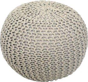 Tempo Kondela Pletený taburet GOBI TYP 1 - krémová bavlna + kupón KONDELA10 na okamžitou slevu 3% (kupón uplatníte v košíku) - Lavice na SEDI.cz