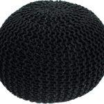 Tempo Kondela Pletený taburet GOBI TYP 1 - černá bavlna + kupón KONDELA10 na okamžitou slevu 3% (kupón uplatníte v košíku) - Lavice na SEDI.cz