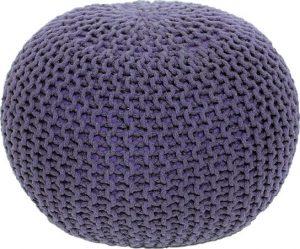 Tempo Kondela Pletený taburet GOBI TYP 2 - fialová bavlna + kupón KONDELA10 na okamžitou slevu 3% (kupón uplatníte v košíku) - Lavice na SEDI.cz