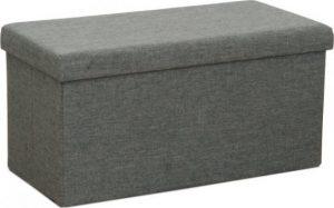 Tempo Kondela Skládácí taburet ORELIA - šedá + kupón KONDELA10 na okamžitou slevu 3% (kupón uplatníte v košíku) s úložným prostorem - Lavice na SEDI.cz