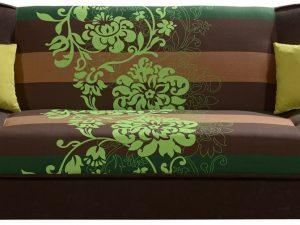 Rozkládací pohovka CORADO II se zelenými květy