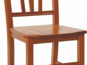 Dřevěná židle Silvana masiv tmavě hnědá