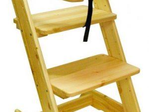 Dětská rostoucí židle s pultíkem Borovice - surové dřevo