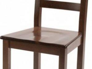 Dřevěná židle Rustica - masiv Tmavě hnědá