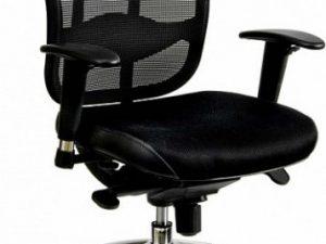 Kancelářská židle Oklahoma šedá síť/šedá látka