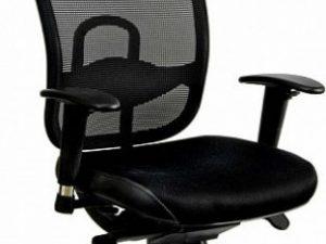 Kancelářská židle Oklahoma PDH šedá síť/šedá látka