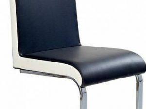 Jídelní židle K103 šedo-bílá