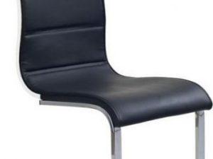 Jídelní židle K104 Bílá koženka/překližka bílá
