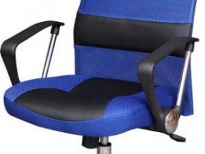 Kancelářská židle TC3-973M - černo-modrá