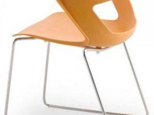 Konferenční židle 2160/S PC Aoki - nečalouněná Bílá