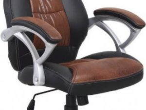 Kancelářská židle ICARUS -  ekokůže + černá / plast