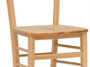 Dřevěná židle Verona masiv Bílá