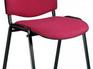Konferenční židle Iso čalouněná - BÉŽOVÁ Suedine 109/černá kostra
