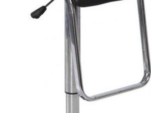Barová židle ILANA - černá ekokůže / chrom