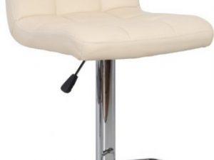 Barová židle KANDY - béžová ekokůže / chrom
