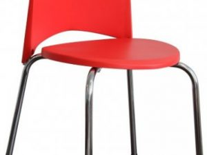 Jídelní židle BRISA - chrom + červený plast