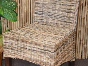 Jídelní židle Larissa wicker mix - dřevo hnědé