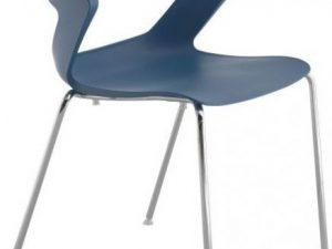 Konferenční židle 2160 PC Aoki - nečalouněná Bílá