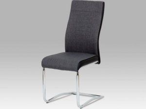 Jídelní židle DCL-428 LAN2 - lanýž látka + koženka