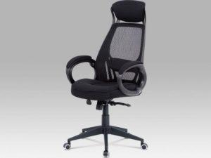 Kancelářská židle KA-G109 GREY - šedá mesh/ látka