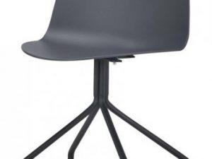 Židle BRUNA - tmavě šedá + černá