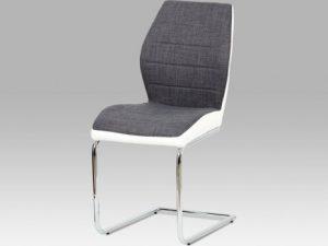 Jídelní židle DCH-511 BR2 - hnědá látka + cappuccino koženka