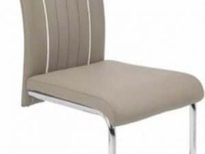 Židle LESANA - béžová / bílá