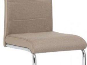 Židle IZMA - béžová ekokůže / béžová látka
