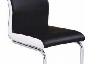 Židle NEANA - ekokůže černá / bílá
