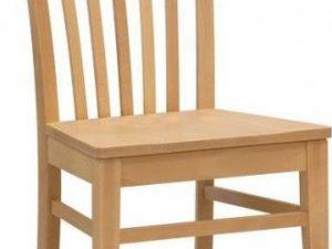 Dřevěná židle K2 masiv Bílá