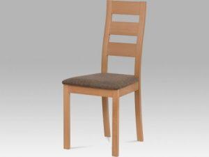 Jídelní židle BC-2603 WT - bílá/potah světlý