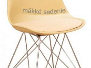Židle METAL - béžová cappuccino