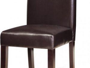 Jídelní židle VIVA NEW - tmavý ořech / ekokůže tmavě hnědá