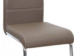 Jídelní židle ABIRA - hnědá ekokůže