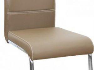Jídelní židle ABIRA NEW - cappucino ekokůže