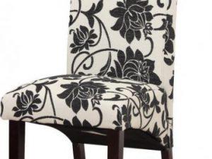 Jídelní židle JUDY 2 NEW - bílá / tmavý ořech