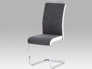 Jídelní židle DCL-966 LAN2 - lanýžová látka + hnědá koženka