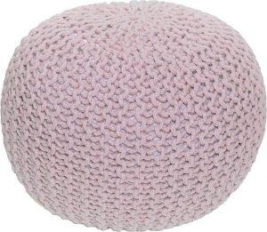 Tempo Kondela Pletený taburet GOBI TYP 1 - pudrová růžová bavlna + kupón KONDELA10 na okamžitou slevu 3% (kupón uplatníte v košíku) - Lavice na SEDI.cz