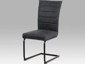 Jídelní židle DCH-170 BR - koženka hnědá