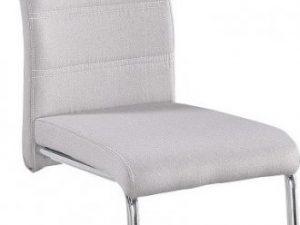 Jídelní židle ABIRA NEW - látka krémová/ chrom