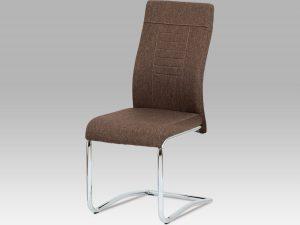 Jídelní židle DCL-7 BR2 - hnědá látka